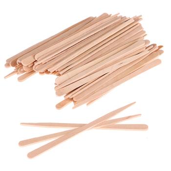 100 sztuk kobieta drewniane ciało włosy usuwania kije wosk woskowanie jednorazowe kije piękna kosmetyczka zestawy szpatułka do uciskania języka drewna szpatułka tanie i dobre opinie HNKMP CN (pochodzenie) Wooden 100pcs Tongue Depressor