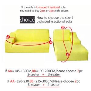 Image 4 - Housse de canapé dangle imprimée et élastique, lot de 2 pièces extensibles en L pour salon, 1/2/3/4 sièges