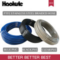 HAOKULE 3AN/AN3 PTFE тефлоновый плетеный шланг из нержавеющей стали с черным/прозрачным/синим покрытием из ПВХ