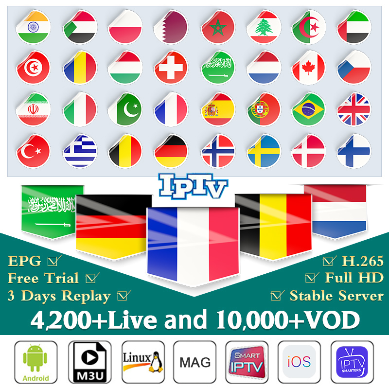 IPTV France Arabic Spain Italy Netherlands IUDTV Pro IPTV Subscription Germany <font><b>Belgium</b></font> Portugal Greece Poland Sweden Turkey IPTV Dutch French EX-YU Norway Albania IP TV Italia IP TV Code image