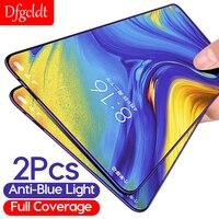 Pellicola salvaschermo anti-blu a copertura totale 2 pezzi per Xiaomi Mix 3 2 2S A2 Lite Pocophone F1 F3 X3 Redmi 6 6A Pro vetro temperato