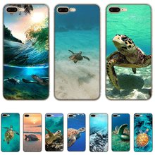 Étui de téléphone portable pour iPhone 11 Pro X XS Max XR iPhone 5 5S SE 6 6S 7 8 Plus coque rigide de tortue de mer(China)