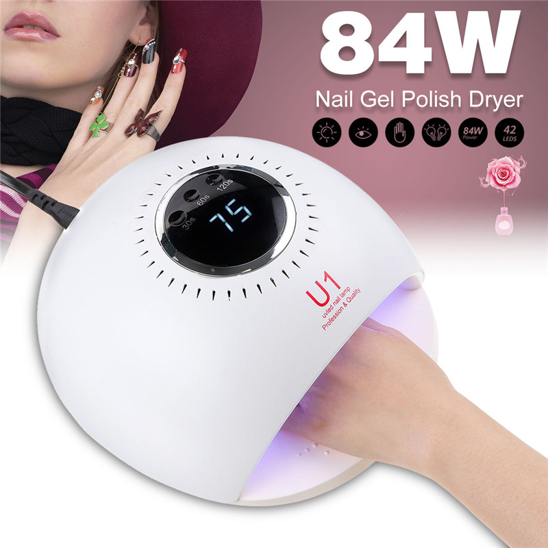 84W UV Removable LED Nail Dryers 4 Timing Modes for Manicure Gel Nail Lamp Drying Lamp for Gel Varnish Nail Tools