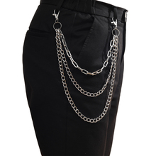 Punk Chain for pants women men vintage keychain clip on chains for pants  jeans hipster Hip Hop jewelry Accessories
