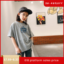 Childrens Short-sleeved T-shirt 2020 Summer Clothes Cotton Half-sleeved Girls Thin