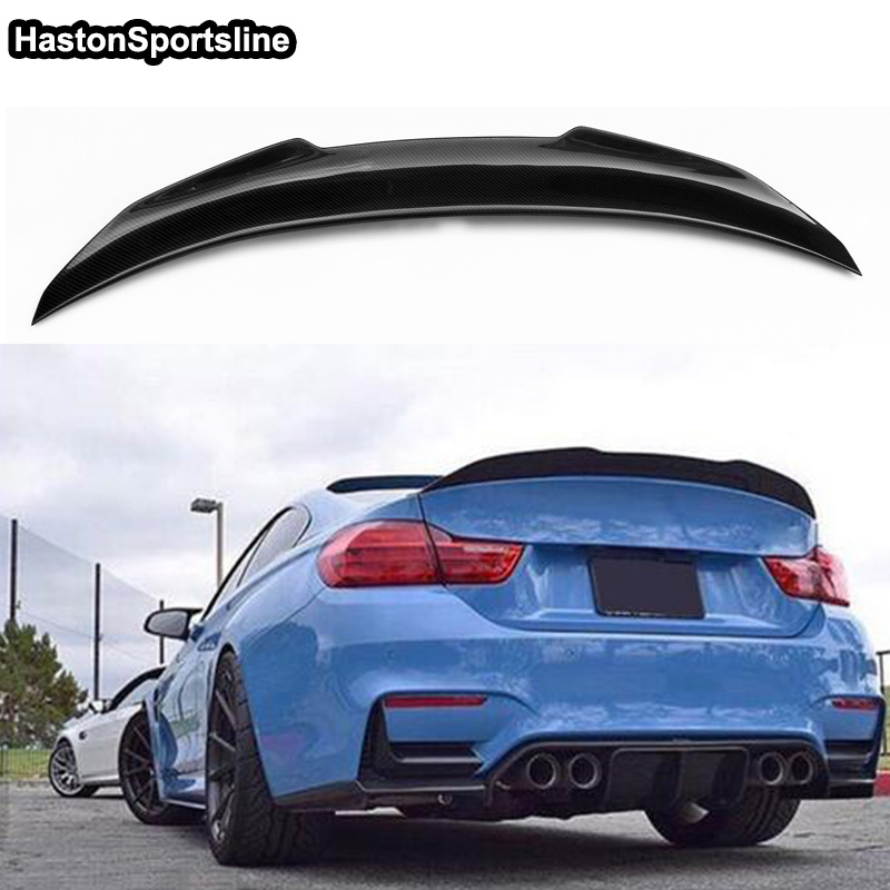 Image 5 - F36 Grand Coupe 4Door PSM Style Carbon Fiber Auto Car Rear Trunk Spoiler Wing for BMW F36 2014 2017trunk spoiler wingspoiler wingtrunk spoiler -