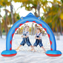 New Inflatable Shark Water Spraying Arch Bridge Outdoor Lawn Water Playing Game Pool Children's Toy Rainbow Arch Bridge Unicorn