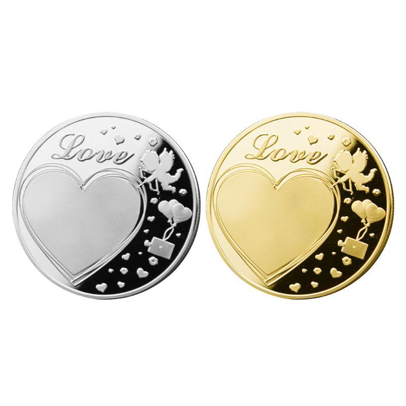 Love Commemorative Coin Collection Gift Souvenir Art Metal Antiqu Lucky Coin