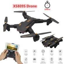 VISUO XS809S RC Quadcopter mit Kamera 2MP HD WiFi FPV Weitwinkel 2,4G HZ fernbedienung Drohnen Faltbare Mini drone 3,7 V 1800MAH
