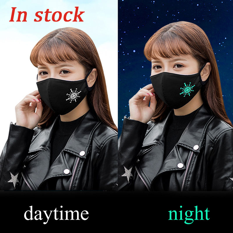 1pcs PM2.5 Dust Face Mask Fashion Fluorescence Anti Air Pollution Mask Anti PM2.5 Dust Mouth Mask Safe Protect Health Mask