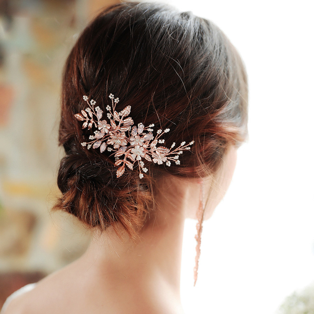Wedding Accessories Bridal Wedding Crystal Hair Accessories Clips Comb Pearls Pins Grip Diamante Headdress Copricapo Da Sposa