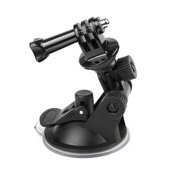 Universal Car Suction Cup Adapter Windshield Mount Holder Bracket Action Camera Accessories For Gopro Hero 1 2 3 4 360 degree rotational 1 4 car mount holder w suction cup gopro adapter for camera gopro hero 4 sj4000