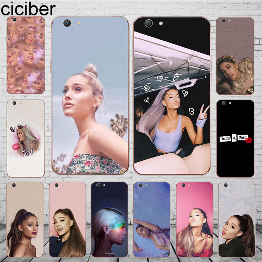 ciciber Funda Cover For OPPO A37 A39 A57 A59 A83 A5 A7 AX7 A3S F1S F11 F5 Youth Phone Case Soft Silicone TPU Shell Ariana Grande