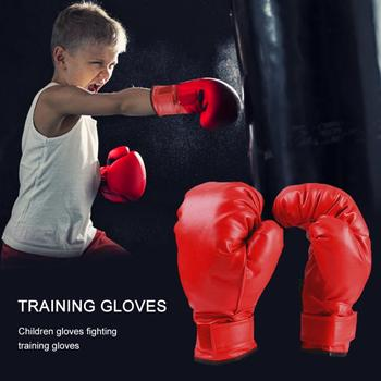 Professional Boxing Gloves PU Leather Liner Sponge R Flame Gloves Sanda Training Glove Fitness Boxing Gloves For Adults Kids 3