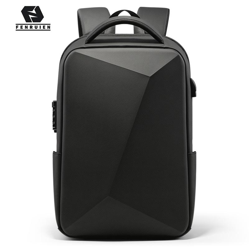 Fenruien Men Backpack Laptop-Bag Tsa-Lock Usb-Charging Business-Anti-Theft Waterproof