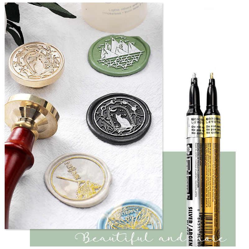 Wyse 3cm flor selo de cera gato montanha retro selo de madeira kits substituir cobre cabeça hobby ferramentas conjuntos pós decoração artesanato supplie