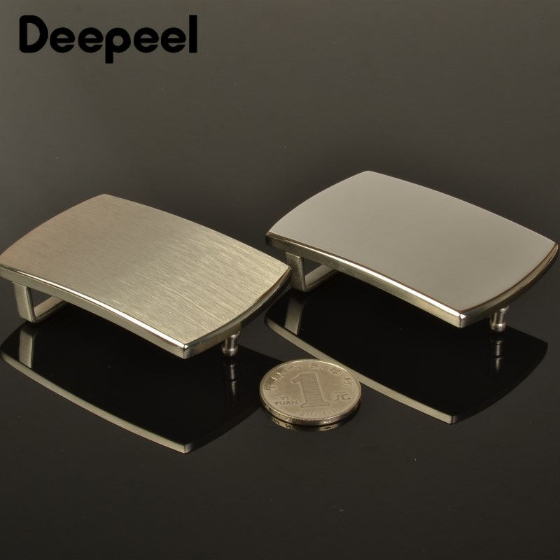 Deepeel 40MM Men's Pure Stainless Steel Smooth Belt Buckles Business Belts Head DIY Leather Craft Hardware Accessories AP465
