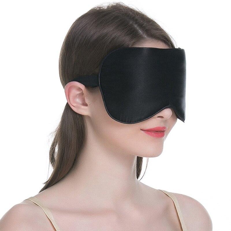 100% Silk Sleep Facemask Silk Eye Mask Silk Mask Black Eye Cover Sleeping Eyeshade