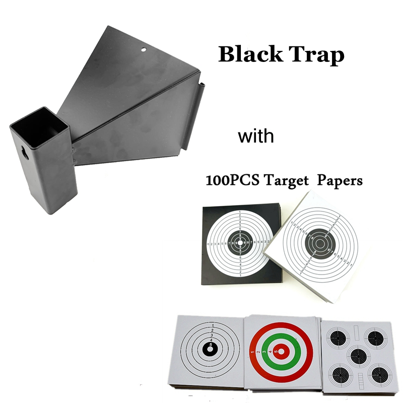 New Pellet Trap Bullet Trap Wall-Mounted For Airsoft Air Rifles Air Gun Indoor Outdoor Shooting Training With 100 Papers Targets