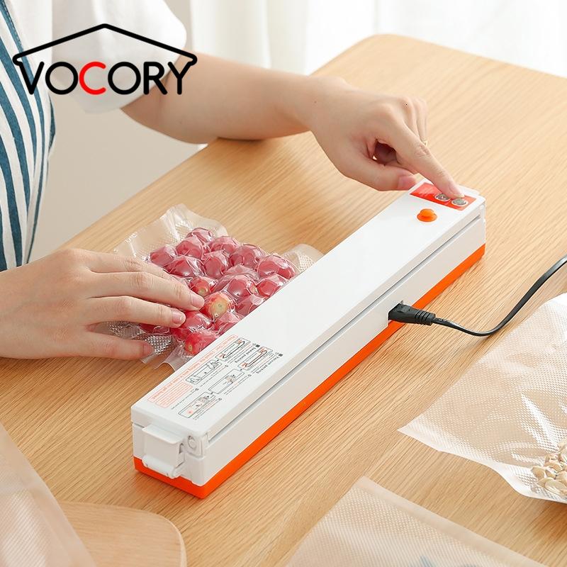 Vacuum Sealer Packaging Machine Household Food Film Sealer Vacuum Packer Keep Food Fresh 220V/110V FREE GIFT 10pcs Storage Bags