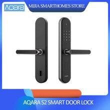 Aqara S2, умный дверной замок с отпечатком пальца, цифровой сенсорный экран, замок без ключа для Xiao mi, комплект для умного дома, работает с приложением mi Home
