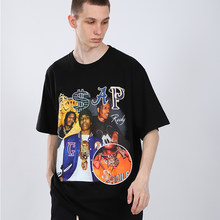 O mais rápido possível rocky t-camisa masculina hip hop streetwear harajuku vintage gráfico impresso casual manga curta t