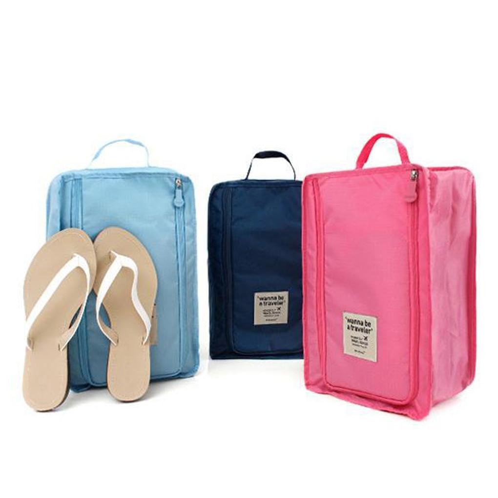 Travel Storage Bag Nylon 6 Colors Portable Organizer Bags Shoe Sorting Pouch