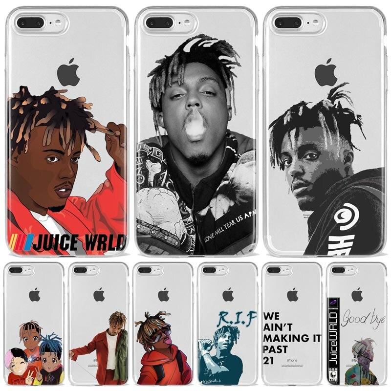 Juice wrld morte corrida para o amor hop rap tpu macio silicone caso do telefone capa para o iphone 11 pro x xr xs max 6 7 8 mais 5 se coque