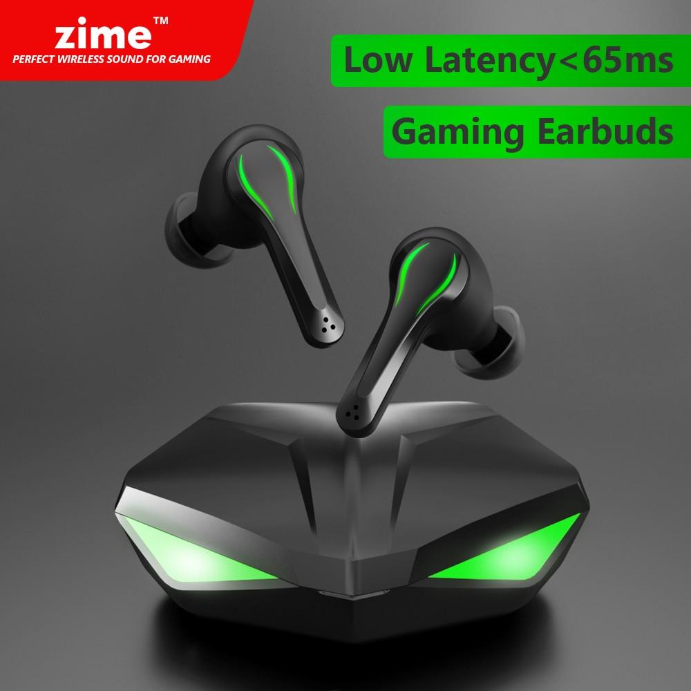 Zime vencedor gaming earbuds 65ms baixa latência tws bluetooth fone de ouvido com microfone baixo áudio posicionamento som pubg sem fio