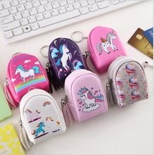 Cartoon Horse Coin Purse Female Mini Headphone Bag Coin Bag Handle Key Bag Small Wallet Fashion Bag cute keychain(China)