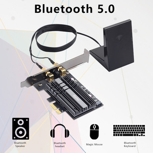 Image 3 - Desktop 2400Mbps PCI E Dual Band WiFi Wireless Adapter Bluetooth 5.0 Wi Fi 6 Card AX200NGW 802.11AC/AX With Magnetic Antennas