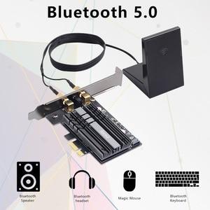 Image 3 - Masaüstü 2400Mbps PCI E Dual Band WiFi kablosuz adaptör Bluetooth 5.0 Wi Fi 6 kart AX200NGW/802 11AC/AX manyetik antenler