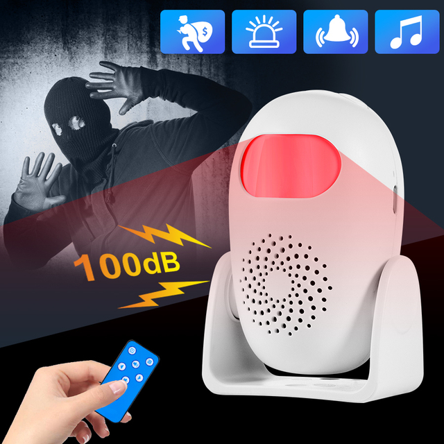 Towode Smart Motion Detector Welcome&Alarm Motion Detector  Kit Infrared Anti Theft Motion Detector Home Security Alarm System