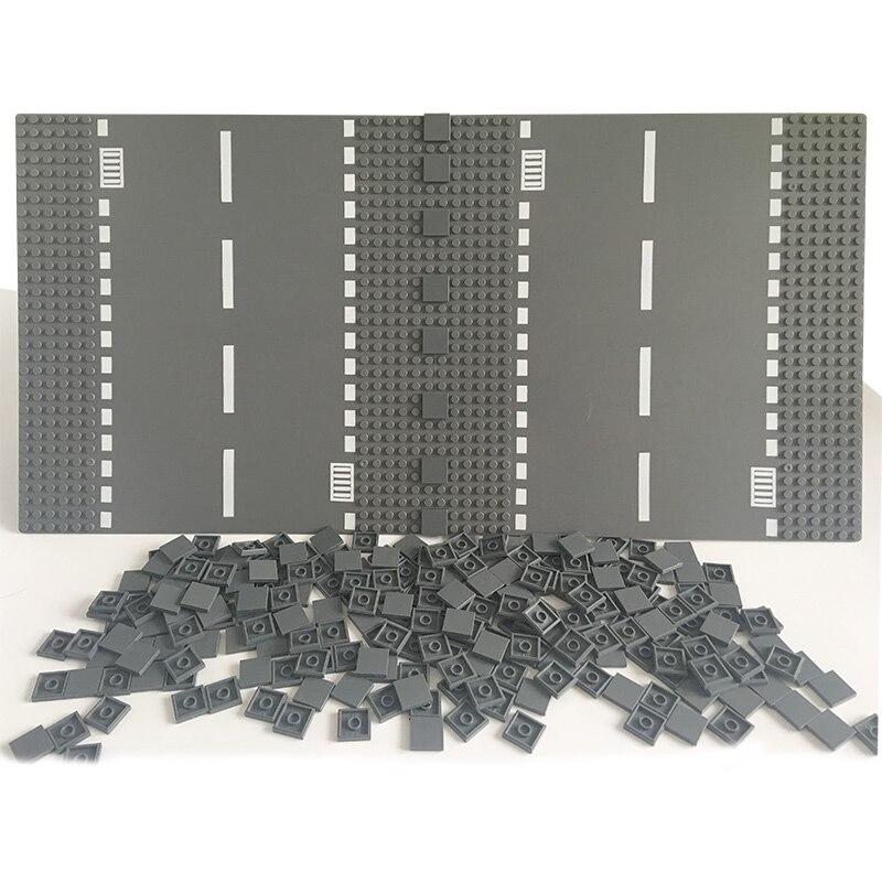 DIY Road Basepate Plastic Building Block Bricks Flat Tile 2x2 Toys For Kids Compatible LegoINGlys City Road Base Plate