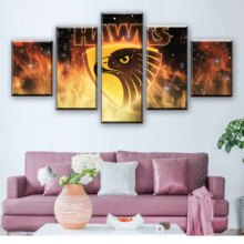Spray Painting Prints Modular Pictures Modern Classic Pop 5 Pcs Australian Football Canvas Home Decor Wall Art Sport Poster