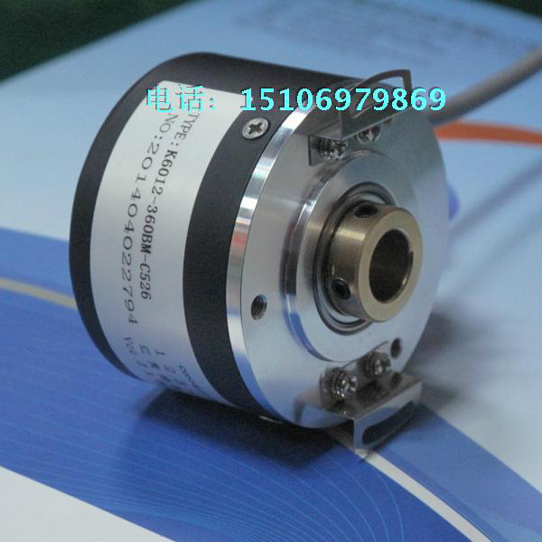 12mm Hollow Shaft Photoelectric Rotary Encoder K6012 1024 Pulse 1024 Line ABZ Three Phase 5-24V