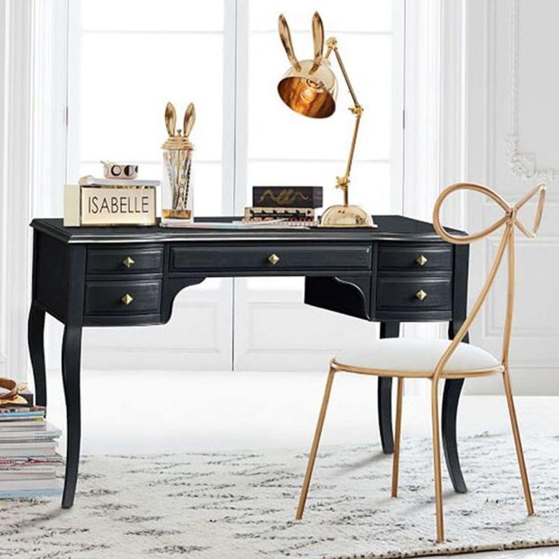 Качественное металлическое кресло, модное, Скандинавское, барное, для отдыха, стул, современный, обеденный, вечерние, с бантом, форма спинки и высокая пена, губка
