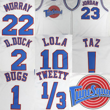 Team Cosplay Costumes Space-Jam Jersey Tune-Squad Basketball Jersey Tank Top Shirts for Halloween Party Event Stitched Mesh