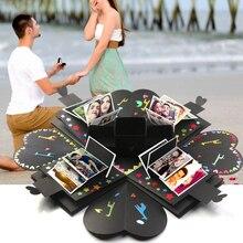 Сюрприз коробка DIY фото взрыв Подарочная коробка уникальный дизайн день рождения креативная бумага Мода свадьба скрапбук подарок