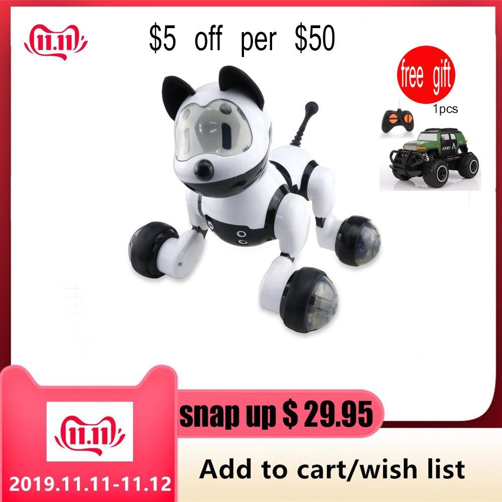Youdi Control de voz perro y gato Robot inteligente mascota electrónica programa interactivo baile paseo Animal Robot juguete