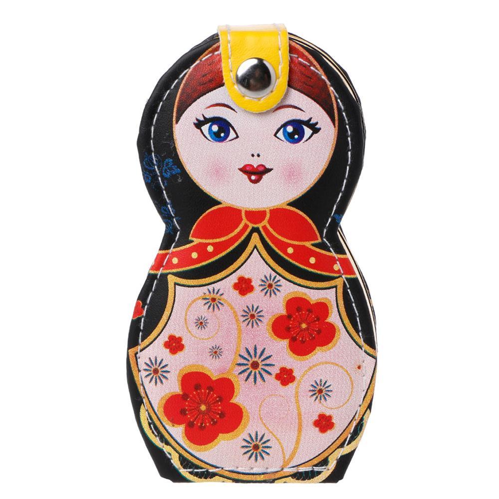 6Pcs Professional Manicure Cleaner Case Cuticle Clipper Pedicure Russian Dolls