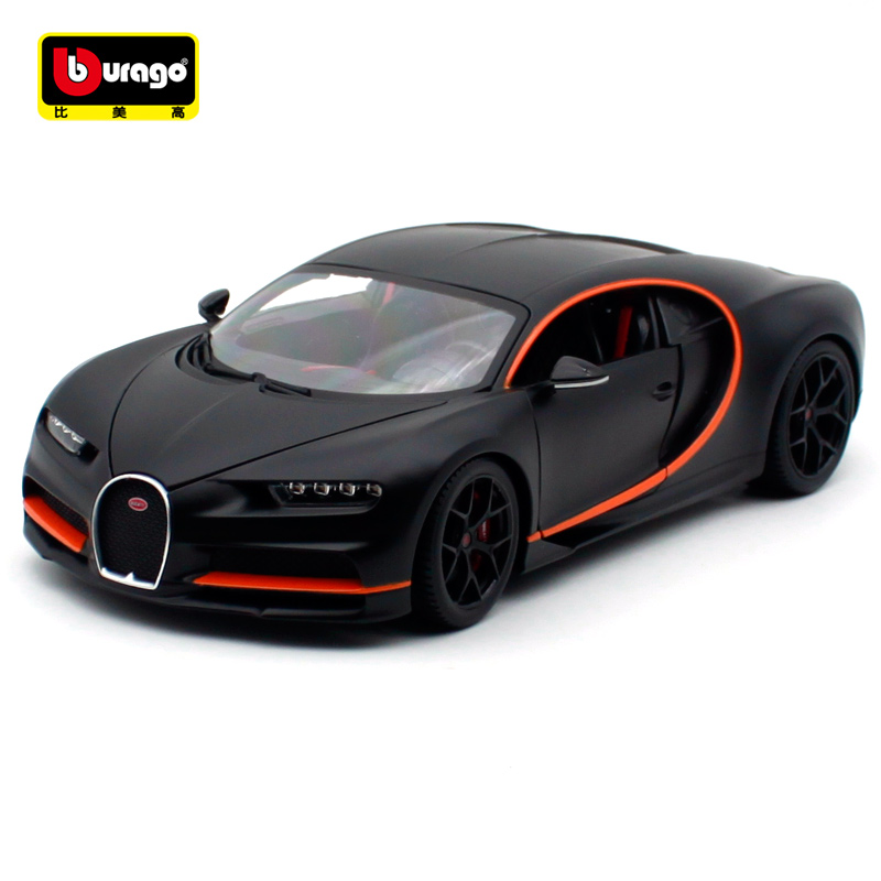 Bburago 1:18 2018 Bugatti Chiron Sport Cool Black Red Diecast For  New Color Car Model Cool Motorcar Collecting For Men 11044