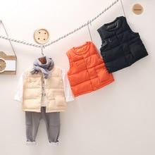 Autumn Winter Girls Casual Vest Jacket Children Outerwear Coats for Infant Baby Down Sleeveless Kids Warm