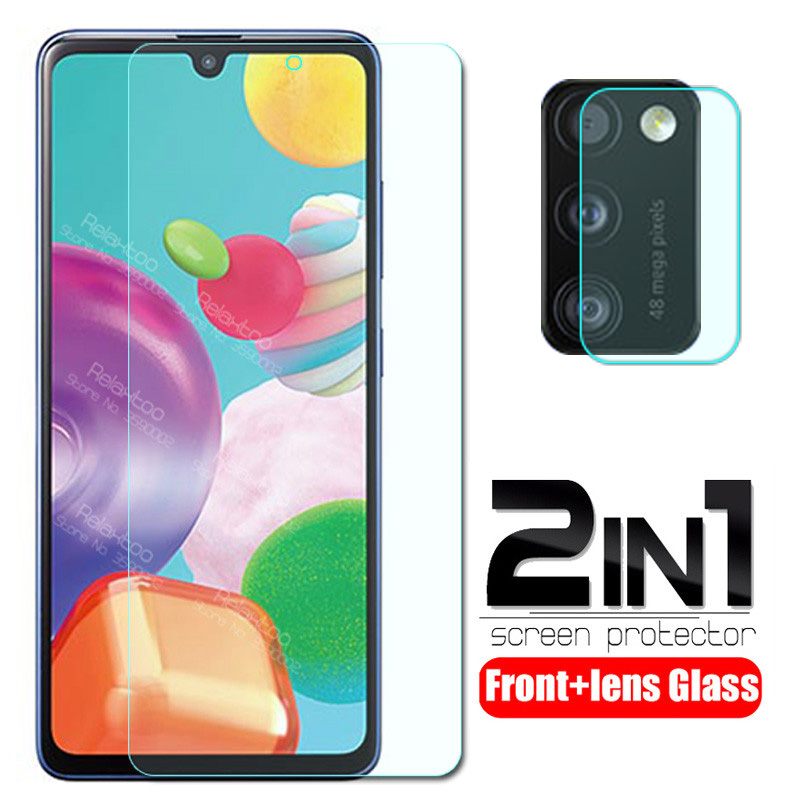 2 In 1 Camera Lens Protective Glass For Samsung Galaxy A41 A415F Sm-a415F A 41 6.1