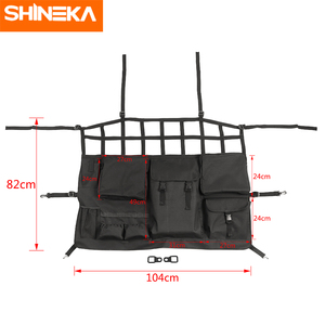 Image 2 - SHINEKA Stowing Tidying For Jeep Wrangler JK JL JT 4 Door Car Seat Back Storage Bag Trunk Accessories For Jeep Wrangler JK JL JT