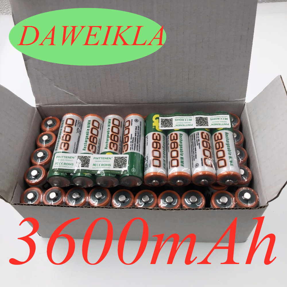 100% New <font><b>1.2V</b></font> AA 3600mAh <font><b>NI</b></font> <font><b>MH</b></font> Pre-Charged Batteries <font><b>Ni</b></font>-<font><b>MH</b></font> Rechargeable AA3600 Battery For Toys Camera Microphone image