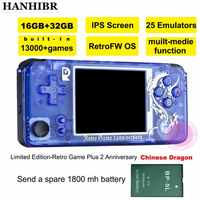 Rs-97 nuevo juego Retro de edición limitada más videojuego de aniversario 3000 juegos Omron 32G TF rs97 consolas de regalo familiar retro ps1 IPS