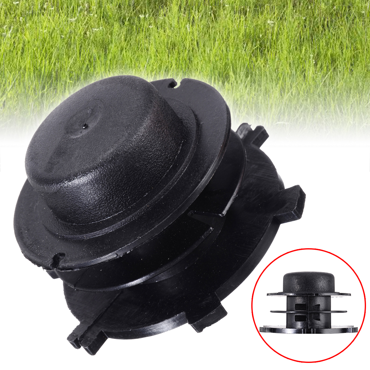 Black Trimmer Head Spool Cover Replace For Autocut 25-2 Replace 4002-713-3017