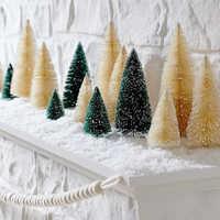 8pcs Mini Árvore De Natal Artificial Árvores Decorações De Natal para Casa Verde Ouro Branco Árvore Navidad Natal Ano Novo Xmas decoração