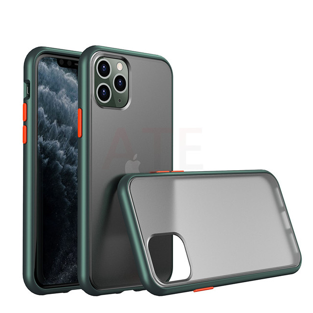 Shockproof Transparent Hybrid Silicone Phone Case For iPhone 11 Pro Max X Xr Xs Max 8 7 Plus 11 Brand Clear Soft Back Cover
